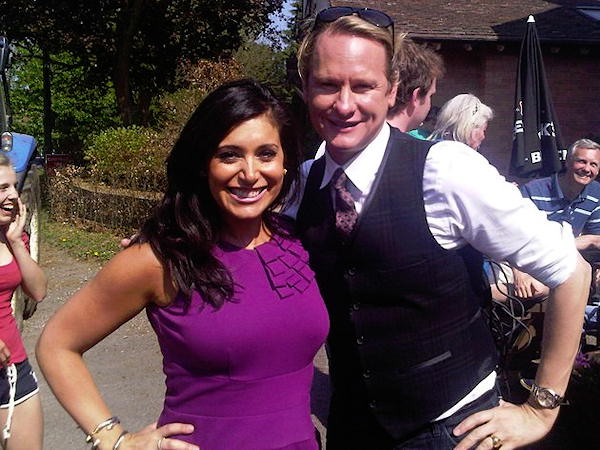 With Allentown native Carson Kressley who is shooting for a piece on Oprah (airs on the 29th on 6abc). Best day in Bucklebury! BEST!