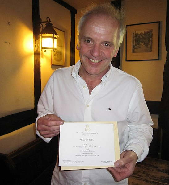 The pub owner and his invitation