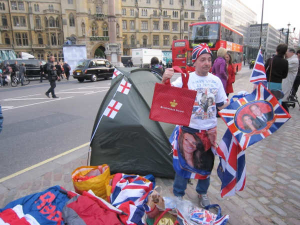 Camping out to see the royal couple