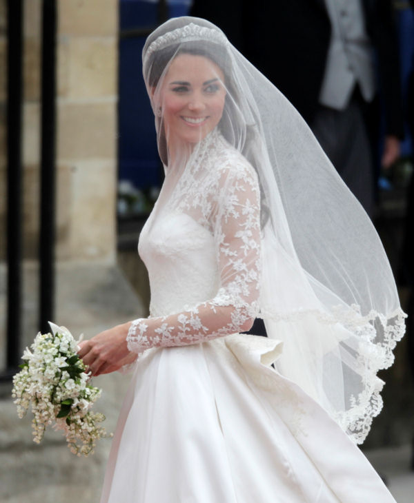"<div class=""meta ""><span class=""caption-text "">Kate Middleton arrives at Westminster Abbey at the Royal Wedding in London Friday, April 29, 2011. (AP Photo/Gero Breloer)</span></div>"