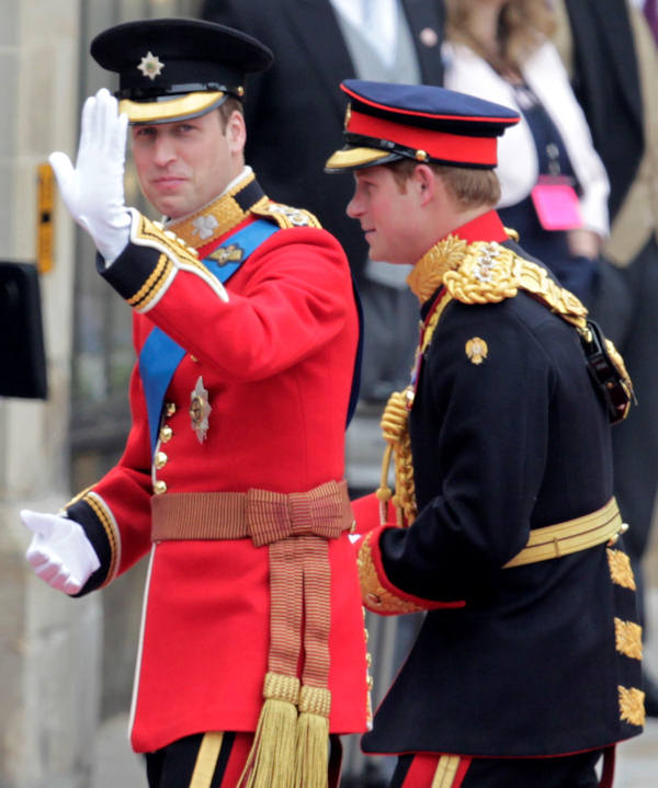 "<div class=""meta image-caption""><div class=""origin-logo origin-image ""><span></span></div><span class=""caption-text"">Britain's Prince William, left, and his best man Britain's Prince Harry arrive at Westminster Abbey at the Royal Wedding in London Friday, April, 29, 2011. (AP Photo/Alastair Grant)</span></div>"