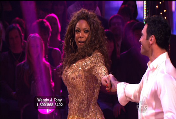 Wendy Williams & Tony Dovolani danced the Cha-Cha-Cha during Week 1 of Season 12 of Dancing with the Stars. They received a score of 14.