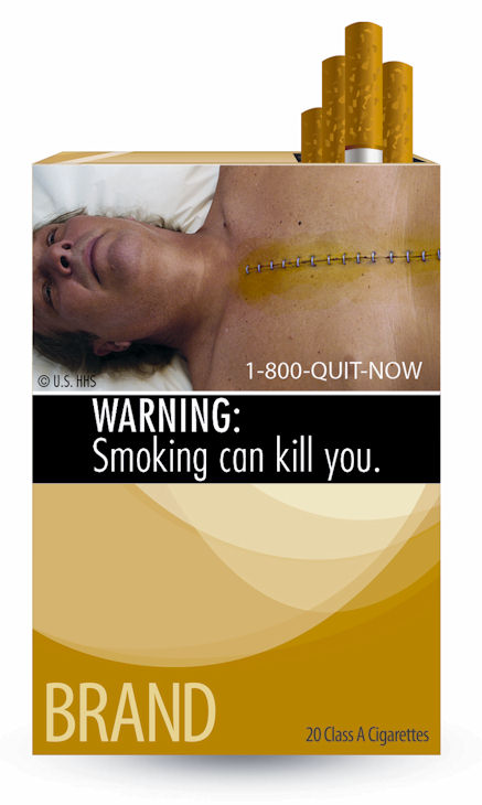 "<div class=""meta ""><span class=""caption-text ""> In the most significant change to U.S. cigarette packs in 25 years, the Food and Drug Administration on Tuesday released nine new warning labels that depict in graphic detail the negative health effects of tobacco use.  (FDA)</span></div>"