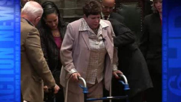 Sen. Tina Tartaglione walks again