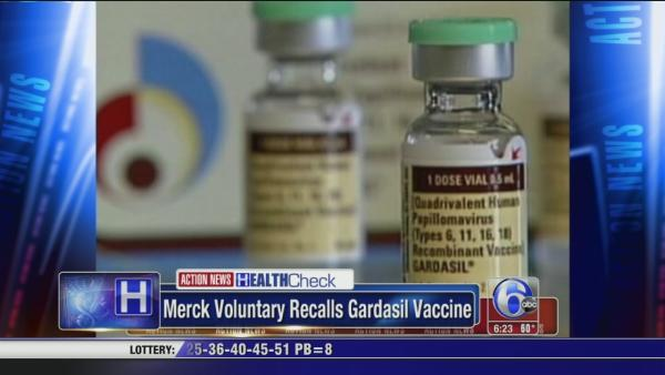 Merck voluntary recalls HPV vaccine
