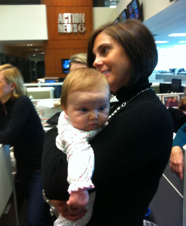 Reporter and anchor Sarah Bloomquist, along with her daughter, Andrea Elizabeth, visited with everyone at Action News on Friday, January 6th.