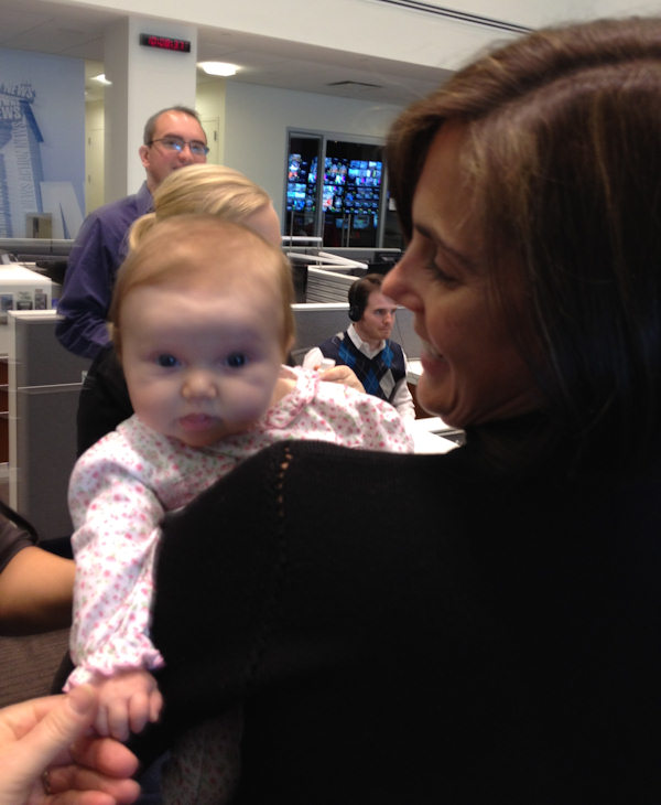 "<div class=""meta ""><span class=""caption-text "">Reporter and anchor Sarah Bloomquist, along with her daughter, Andrea Elizabeth, visited with everyone at Action News on Friday, January 6th.</span></div>"