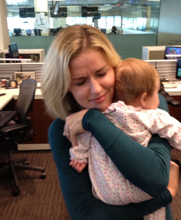Sarah Bloomquist and baby visit Action News