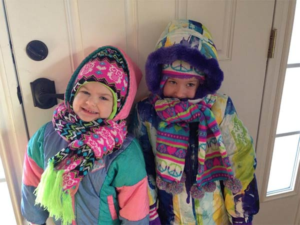 "Action News viewer Jackie Turner posted this #6abcFrozenFaces pic on January 7, 2013: "" Bundled up to wait at the bus stop for school."""