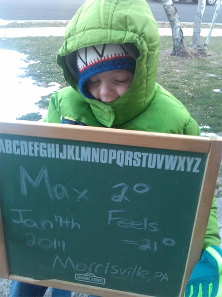 "<div class=""meta ""><span class=""caption-text "">An Action News viewer posted this #6abcFrozenFaces pic of Max on January 7, 2013. </span></div>"