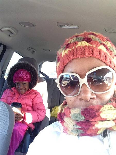 "Action News viewer Angie Germany posted this #6abcFrozenFaces pic on January 7, 2013: ""Hello, Angie and Angenae out in Bear, Del."""