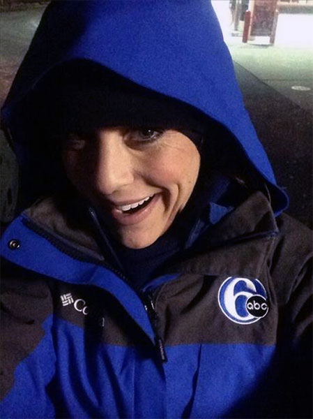 "Action News reporter Annie McCormick posted this #6abcFrozenFaces pic on January 7, 2013:  ""I thawed out to take this selfie! Send me your chilly pics @6abc."""