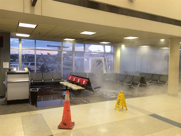 "<div class=""meta ""><span class=""caption-text "">Action News viewer Paul Christensen sent us images that show the aftermath from inside terminal F at Philadelphia International Airport after a baggage cart crashed into the building Thursday night.</span></div>"