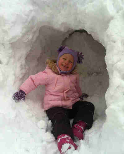 Little Action News viewer Quinlyn McGee of Wayne, Pa is laying cool in the snow. <span class=meta>(Mark Meany)</span>