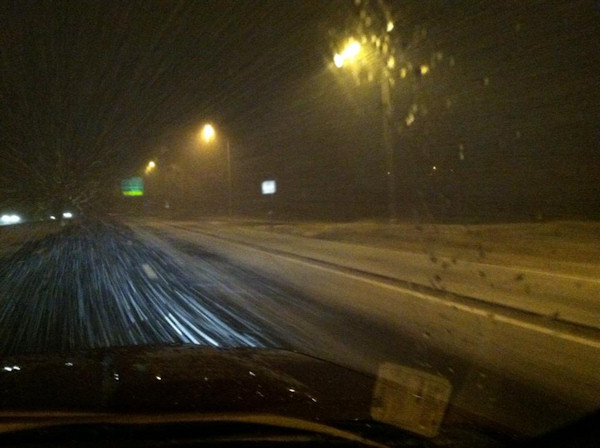 Action News viewer Tricia tweeted this photo from I-295 in Gibbsboro on January 21, 2013.
