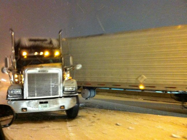 Action News viewer Tom tweeted this photo on I-95 in South Philadelphia on January 21, 2013.