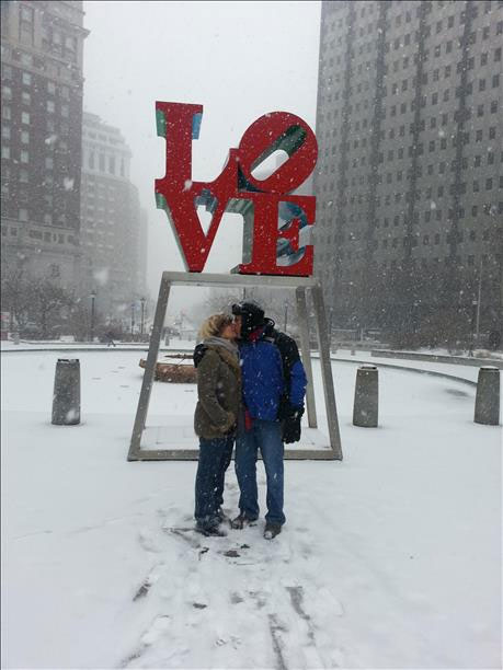 Love birds from south Florida enjoying Philadelphia