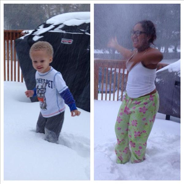 Jordan and Chase Brown of Sicklerville, NJ, enjoying the snow!