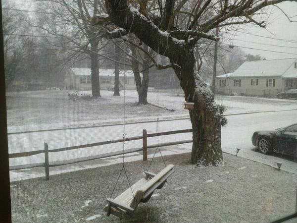 An Action News viewer sent us this photo of the snowfall in Gloucester City, New Jersey.