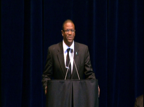 "<div class=""meta ""><span class=""caption-text "">Former Penn State football player Kenny Jackson speaks at the public memorial for Joe Paterno at Penn State's Bryce Jordan Center, January 26, 2012.</span></div>"
