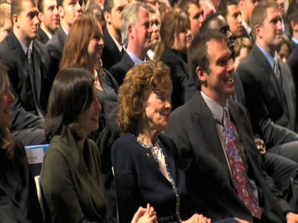 Attendees at a memorial service for former Penn...