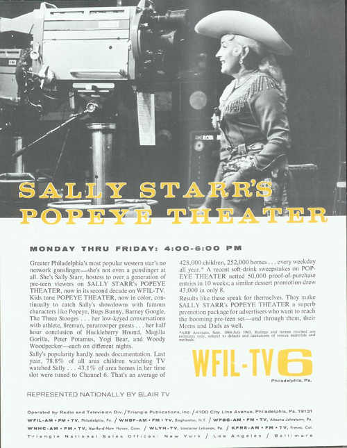 Legendary variety show host Sally Starr (Photo...