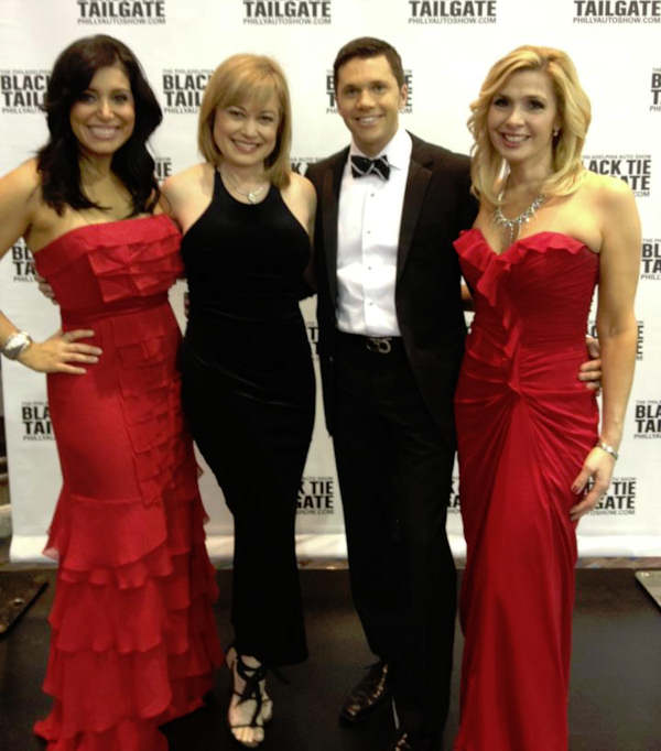 Alicia Vitarelli, Monica Malpass, Adam Joseph and Karen Rogers at the 2012 Philadelphia Auto Show.
