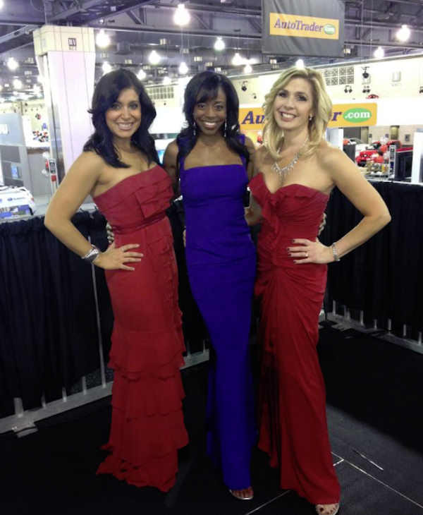 Alicia Vitarelli, Melissa Magee and Karen Rogers at the 2012 Philadelphia Auto Show.
