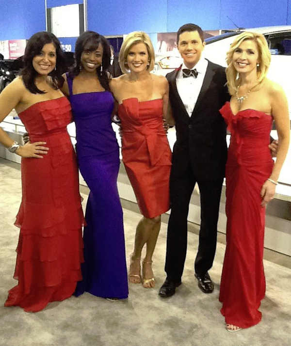 Alicia Vitarelli, Melissa Magee, Cecily Tynan, Adam Joseph and Karen Rogers at the 2012 Philadelphia Auto Show.