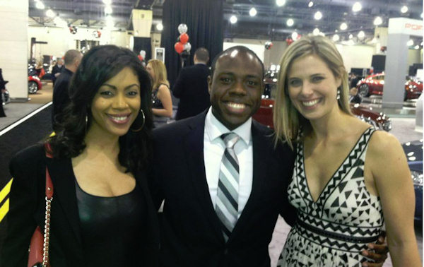 "<div class=""meta ""><span class=""caption-text "">Shirleen Allicot, Kenneth Moton and Katherine Scott at the 2012 Philadelphia Auto Show.</span></div>"