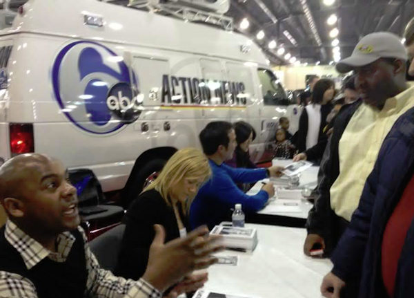 Keith Russell, Jamie Apody, Dann Cuellar and Nydia Han greet Action News viewers at the 2012 Philadelphia Auto Show.
