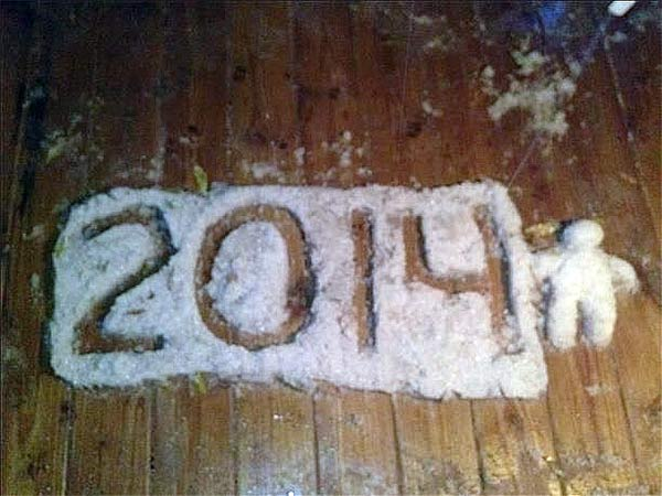 January 29, 2014: Action News viewers Misty and Ronald Smith captured this snow-crafted celebration of 2014.