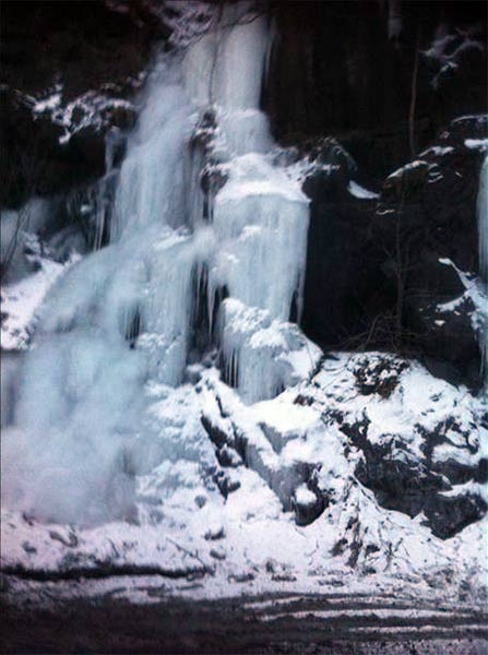 "January 29, 2014: Action News viewer Mr. Davila captured this scene: ""Frozen Waterfall - Jim Thorpe, Pa."""