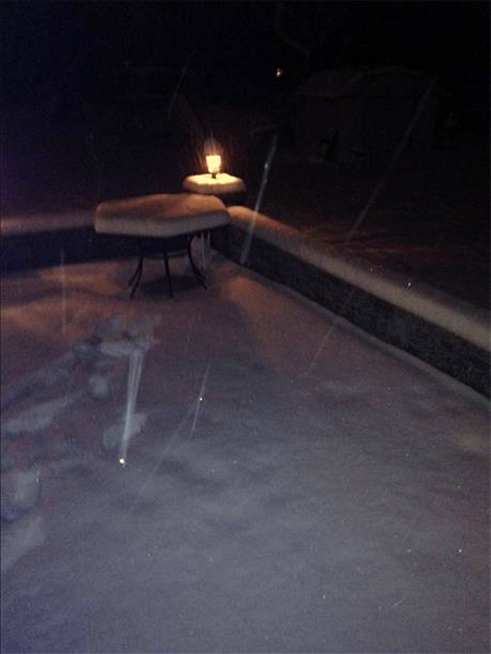 "January 29, 2014: An Action News viewer captured this scene: ""5 1/2 inches in Vineland, N.J."""