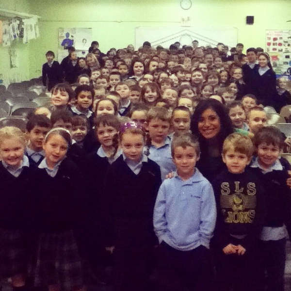 "<div class=""meta image-caption""><div class=""origin-logo origin-image ""><span></span></div><span class=""caption-text"">Alicia Vitarelli celebrates Catholic Schools Week with the students and staff of Saint Laurentius School where she was inducted into the school's Hall of Fame along with Action News Anchor Jim Gardner.</span></div>"