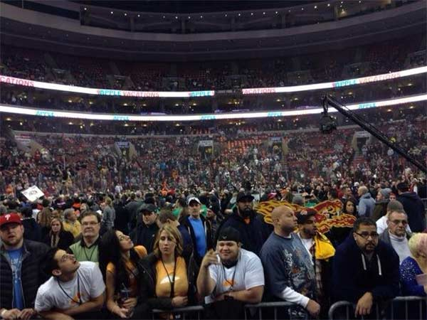 From Katherine Scott (@KScott6abc):  Sold out crowd at Wing Bowl 22.