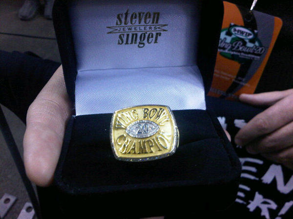 $7500 championship Wing Bowl ring