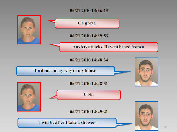 The Chester County Prosecutor's Office released the text messages between Morgan Mengel and Stephen Shappell as they plotted and carried out the murder of Morgan's husband, Kevin Mengel.