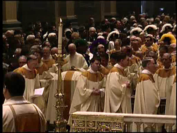 "<div class=""meta ""><span class=""caption-text "">A funeral Mass for the former spiritual leader of Philadelphia's 1.5 million Catholics was held Tuesday afternoon February 7, 2012 at the Cathedral Basilica of Saints Peter and Paul in Philadelphia.</span></div>"