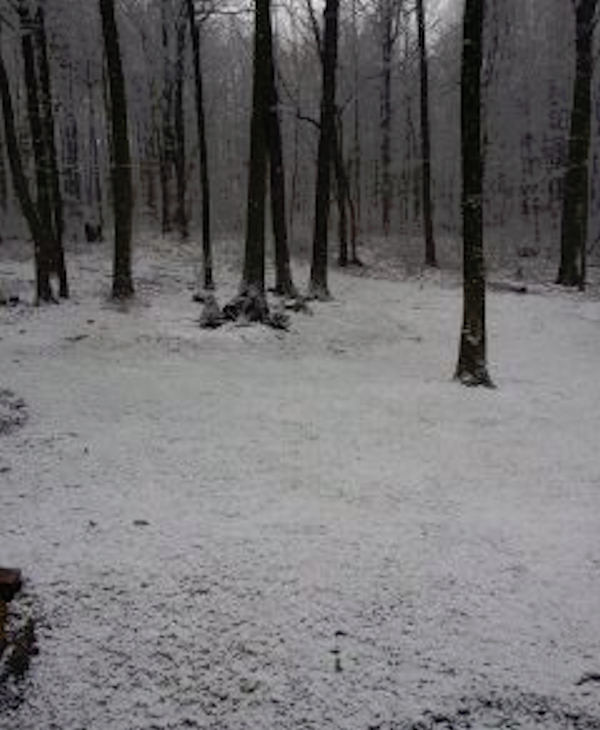 From Ron Chapman via Facebook - Just a light dusting in Parkesburg.