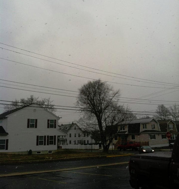 Jocelyn Carreno via Facebook - Snowing in Penndel.