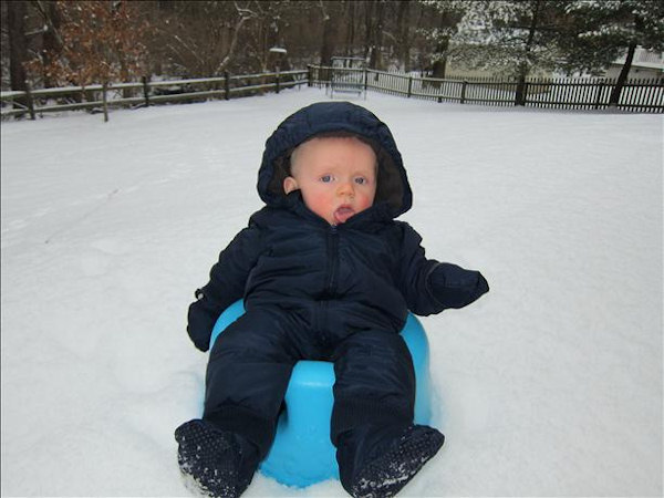 From sendit.6abc.com  Sam's first snow