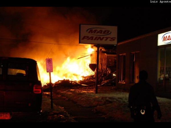 Viewer photos of the explosion in Allentown on February 9, 2011. <span class=meta>(WFMZ)</span>