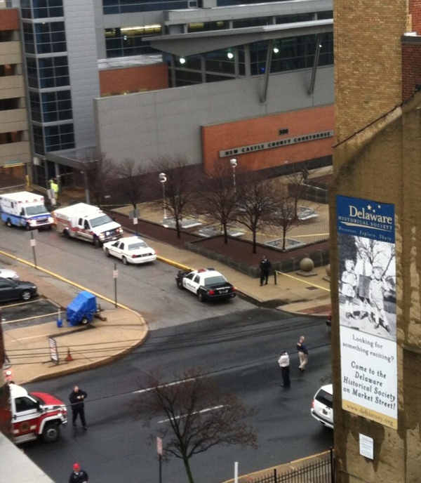Action News viewer Samantha Ford sent us this picture of the courthouse shortly after the shooting occurred.