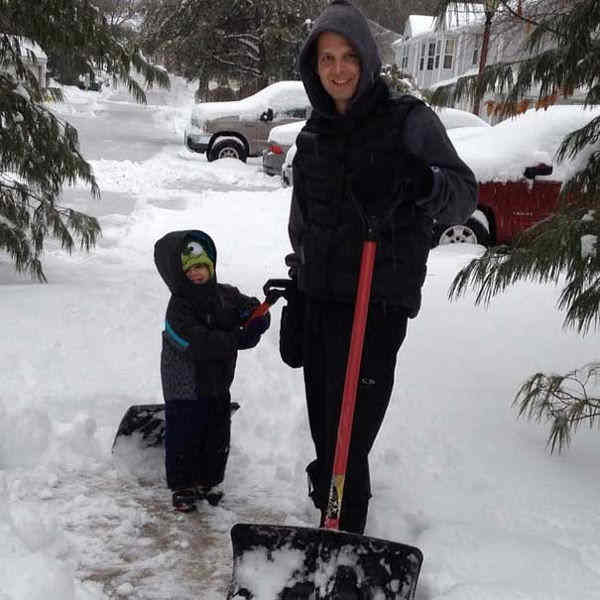 Daddy and Michael shoveling the snow #6abcsnow  <span class=meta>(Allison, New Jersey)</span>