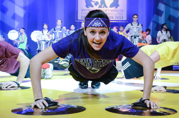"<div class=""meta ""><span class=""caption-text "">Pictures from the 2013 The Penn State IFC/Panhellenic Dance Marathon, known as THON. (Jaclyn McKay)</span></div>"