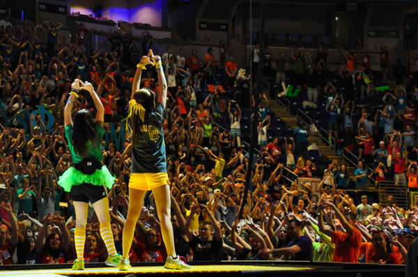 Pictures from the 2013 The Penn State IFC&#47;Panhellenic Dance Marathon, known as THON. <span class=meta>(Allison Ranslow)</span>