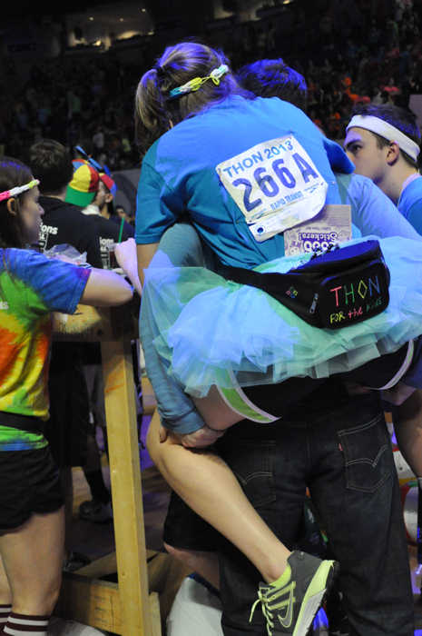 "<div class=""meta ""><span class=""caption-text "">Pictures from the 2013 The Penn State IFC/Panhellenic Dance Marathon, known as THON. (Emily Leiden)</span></div>"