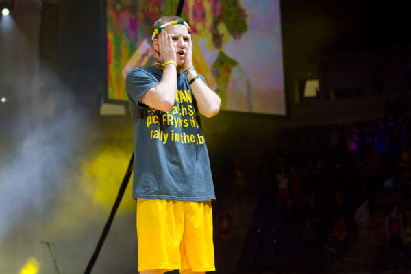 "<div class=""meta ""><span class=""caption-text "">Pictures from the 2013 The Penn State IFC/Panhellenic Dance Marathon, known as THON. (Savannah Renee Smith)</span></div>"