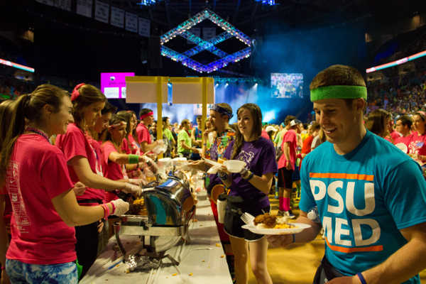 Pictures from the 2013 The Penn State IFC&#47;Panhellenic Dance Marathon, known as THON. <span class=meta>(Bryan Tan)</span>